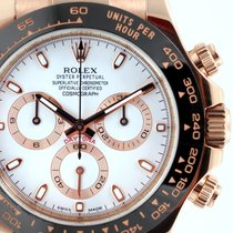 Rolex 18K Rose Gold Ceramic Daytona White Dial  116515 model