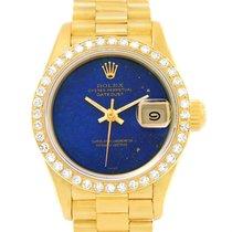 Rolex President Datejust Ladies Yellow Gold Lapis Diamond...