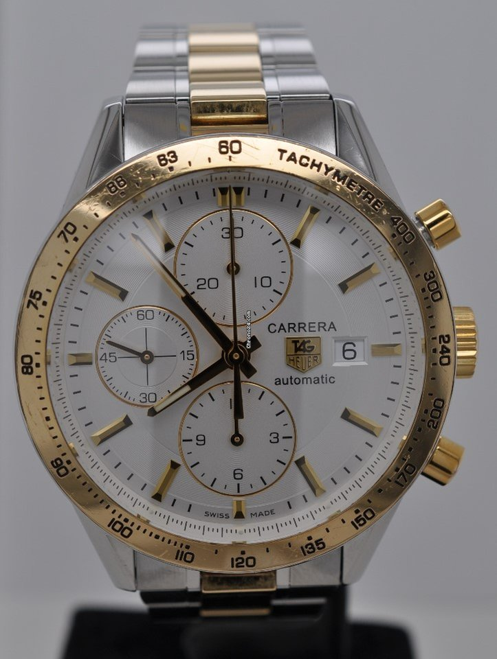 4f5b1e43b98f TAG Heuer Carrera Calibre 16 Chronograph Silver Dial 18kt Gold... for C   3