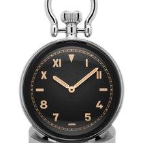 Panerai Table Clock Aço 64mm Preto