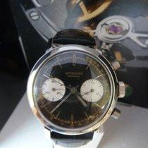 Leonidas Chronograph 38mm Handaufzug 1950 gebraucht Schwarz
