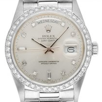 Rolex White gold 36mm Automatic 18049 pre-owned