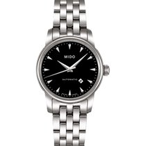Mido Baroncelli II Steel 29mm Black No numerals