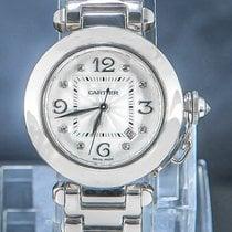 Cartier Pasha White gold 32mm White Arabic numerals
