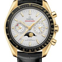 Omega Or jaune Remontage automatique Argent nouveau Speedmaster Professional Moonwatch Moonphase