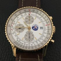 Breitling Yellow gold Automatic Silver 41mm pre-owned Old Navitimer