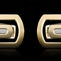 Bulgari 18k Yellow Gold Parentesi Collection Cufflinks