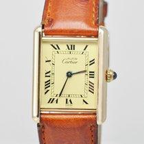 Cartier Tank Vermeil 925 vergoldet Ref. 590005 Quarz 30 x 23 mm