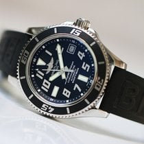 Breitling Superocean 42 black dial Full set 2 bracelet