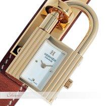 Hermès Kelly Stahl / vergoldet 6P10
