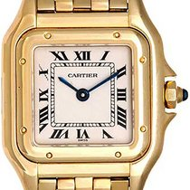 Cartier Panther Ladies 18k Yellow Gold Panthere Watch W25022B9