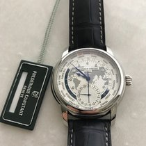Frederique Constant 42mm Automatisk ny Manufacture Worldtimer Silver