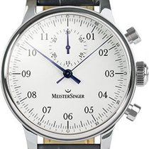 Meistersinger Singular Steel 43mm White