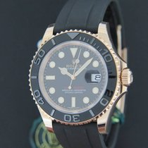 Rolex Yacht-Master Everose Gold Oysterflex NEW 116655 FULLY...