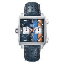 TAG Heuer Chronograph 39mm Automatic new Monaco Calibre 11 Blue