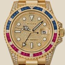Rolex 116758SARU Geelgoud GMT-Master II 40mm tweedehands
