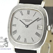 Eterna White gold Automatic Silver 34mm pre-owned Matic