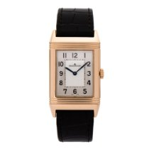Jaeger-LeCoultre Grande Reverso Ultra Thin Rose gold 46mm Silver Arabic numerals