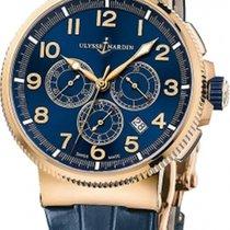 Ulysse Nardin Marine Chronograph Pозовое золото Синий