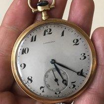 Longines Vintage Gold Oro 18kt 750 Pocket Watch Manual 48 mm