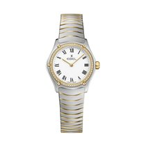 Ebel Sport 1216385 EBEL SPORT CLASSIC Donna  24mm acciaio oro diamanti new