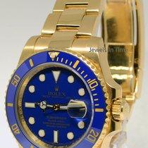 Rolex Submariner 18k Yellow Gold Ceramic Watch & Box V 116618