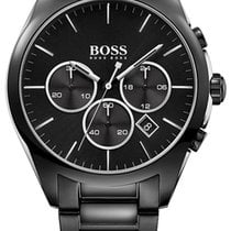 Hugo Boss Chronograph Black Steel Mens Watch Black Dial...