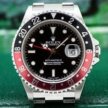 "Rolex 16710T GMT Master II SS Red / Black Coke ""Full Set"" (27215)"