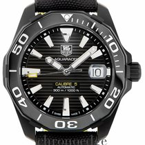 TAG Heuer 41mm Automatic 2016 pre-owned Aquaracer 300M Black