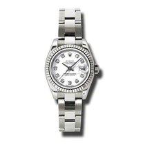 Rolex Lady-Datejust Oro bianco 26mm Bianco