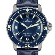 Blancpain Fifty Fathoms Титан 45mm Синий