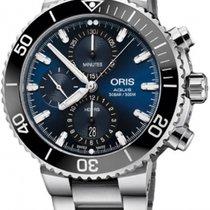 Oris Aquis Chronograph Steel 45,5mm Blue No numerals