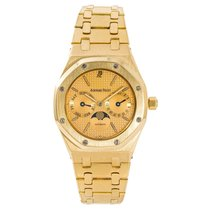 Audemars Piguet Yellow gold Automatic Champagne No numerals 36mm pre-owned Royal Oak Day-Date