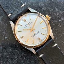 Rolex Oyster Perpetual Ouro/Aço 34mm Branco