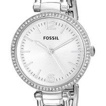 Fossil Silver Quartz Silver No numerals 32mm new
