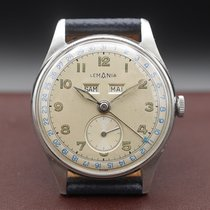 Lemania Steel 35mm Manual winding pre-owned