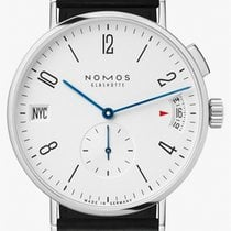 NOMOS Tangomat GMT Steel 40mm White Arabic numerals