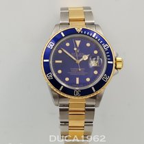 Rolex Submariner Date Aur/Otel 40mm Albastru Fara cifre