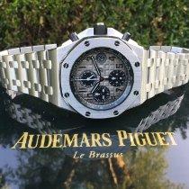 Audemars Piguet Platinum Automatic Grey 42mm pre-owned Royal Oak Offshore Chronograph