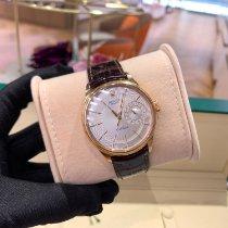 Rolex Cellini Date Oro rosado 39mm Negro Sin cifras
