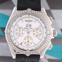 Breitling Crosswind Special gebraucht 44mm Weiß Chronograph Datum Kautschuk