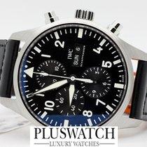 IWC Pilot Chronograph Acciaio 43mm Nero Arabo Italia, l'aquila
