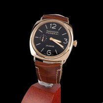 Panerai Rose gold Manual winding Black No numerals 45mm pre-owned Radiomir 8 Days
