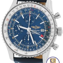 Breitling Navitimer World GMT Stainless Blue 46mm A24322...