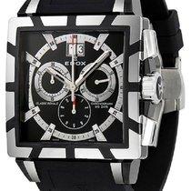 Edox Classe Royale Black Dial Rubber Men's Watch 10013-357...