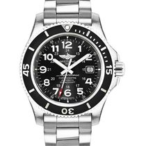 Breitling A17392D7/BD68-162A Superocean II in Steel with Black...