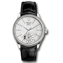 Rolex Cellini Dual Time Witgoud 39mm Zilver