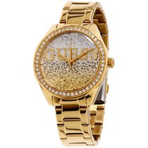 Guess Glitter Girl Gold Dial Stainless Steel Ladies Watch W0987l2