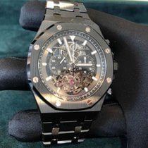 Audemars Piguet Royal Oak Tourbillon Céramique 44mm Transparent Sans chiffres