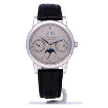 A. Lange & Söhne Platinum Automatic Silver No numerals 39mm new Saxonia